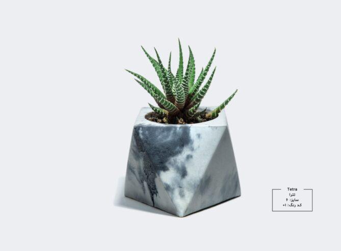 گلدان سنگی - طرح تترا سایز 6